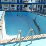 The empty pool. Looks like it will be really nice once they fill it for summer.