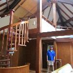 spiral staircase to loft/2nd bedroom