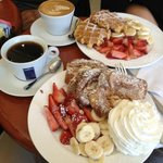 Belgian Waffle and French Toast