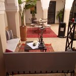 Courtyard - decorated with a shisha ;)