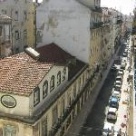 View from our apartment towards Commerce Square (Rua Sapateiros)