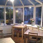 Conservatory where breakfast is served very morning