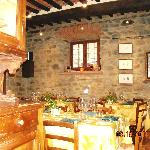 lovely Tuscan restaurant, empty but for us!