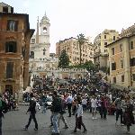  spanish steps just arouns the corner from hotel