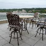 The rooftop deck in the suite