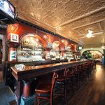 The historic Brunswick Bar is a wonderful focal piece of City Park Grill