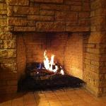 The loggia fireplace