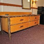 Even the dresser in my room looked like log furniture!