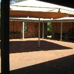 Courtyard and toilets