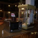 Popcorn Machine in Dining Area