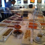 View of the cold buffet