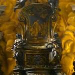  Close up of the actual - Cathedra of Saint Peter (Chair of St. Peters)