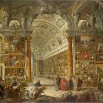 Giovanni Paolo Panini, Interior of a Picture Gallery with the Collection of Cardinal Silvio Vale