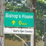 Very accurate street sign in Fort Kochi - it's right outside the House!