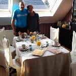 Erik & Rosita after setting up their delicious breakfast for us to once again enjoy.  4 of us to