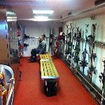 boot room in the basement