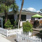 Breakfast or lunch on the deck or inside this re-vamped vintage building