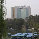View from Park to Hotel
