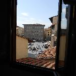  view of Piazza Della Signoria from bedroom window -- great location!
