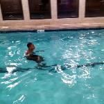 Isaiah, enjoying the relaxing pool, it was wonderful!