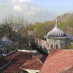 This is the view from our attic room's window. You can see where the Bosphorus & Golden Horn mee