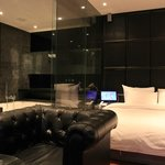 Room 702, jacuzzi hot tub next to bed