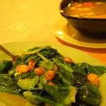 stir fried greens n soup