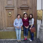 In front of the main door