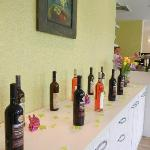 Wines in restaurant Kopretina