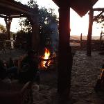 few cervezas around the fire while the sun goes down