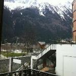  View from window 2 towards Mont Blanc and the river