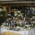 attractive dining room/bar display