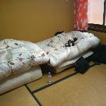 What the futon room looked like after we checked in. This is Private Room Type B.