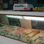 One of the Fresh Seafood Display Cases