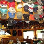  Toad River Lodge - impressive hat collection iwith a cool story...