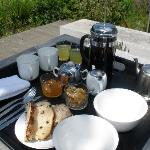 Breakfast in the garden if weather permits