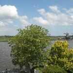 View on Zaanse Schans from de Zaan