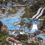 Aerial shot of Raging Waters San Jose