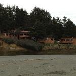  Cabins as they are seen from the beach