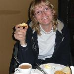  Enjoying Afternoon Tea and Scones at Woburn Inn