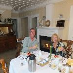  Champagne breakfast in front of the fire - outstanding!
