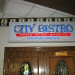 entrance sign for bistro