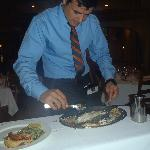 Perfect filet of fish prepared at the tableside