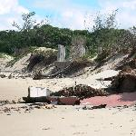  The remains of the beach bar!