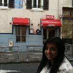 In front of the Hotel Le Saint-Joseph