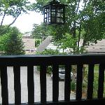 Looking out from the 2nd floor porch