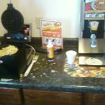 the dirty breakfast area