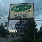 The Colonial Pizza sign