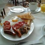 great breakfast, very welcome