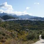 Taking a walk in the area, view on Frigiliana